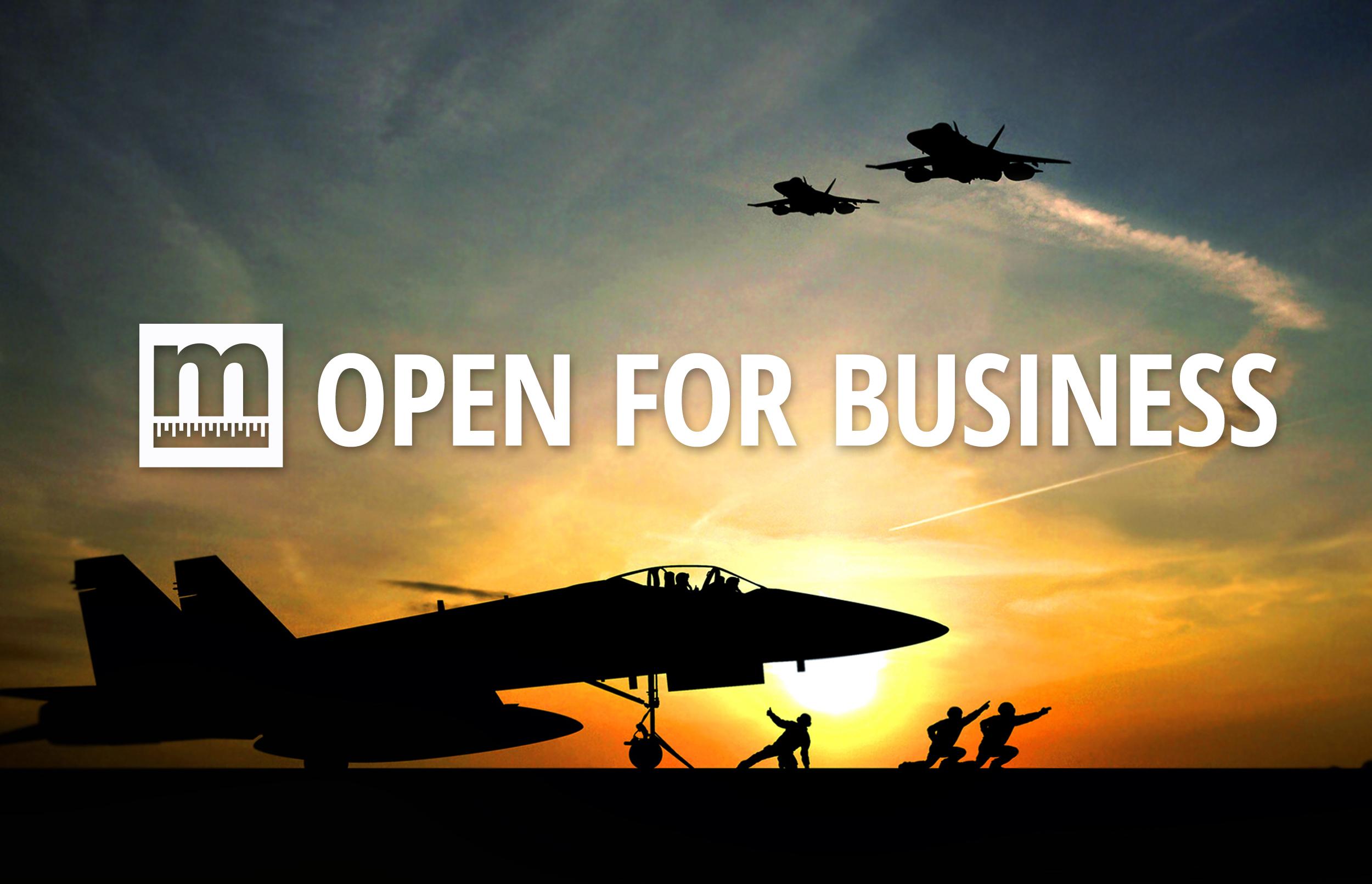 Open for Business Slide